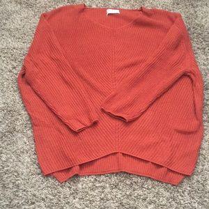 Dark orange tunic sweater